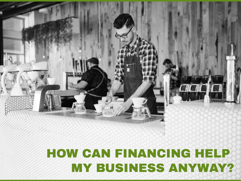 How can financing help my business anyway? Image of restaurant worker behind counter.